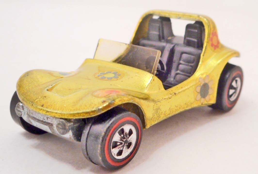 VINTAGE HOT WHEELS RED LINE LIME YELLOW SAND CRAB