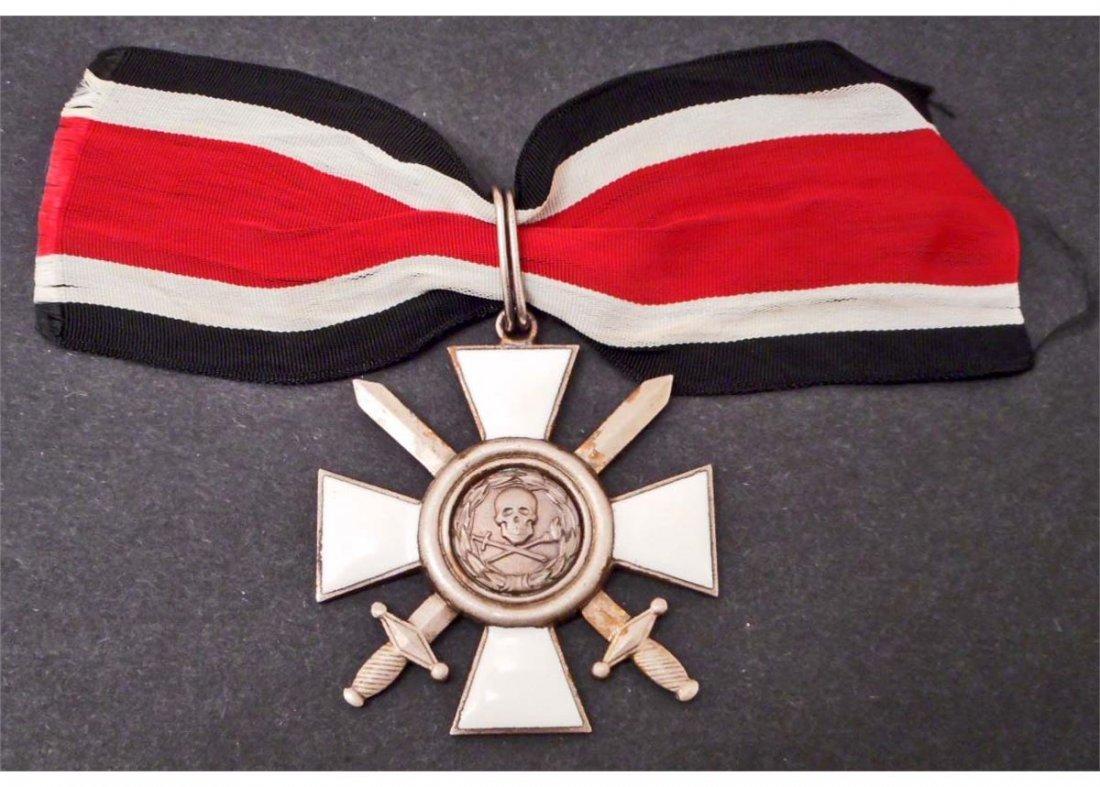 NAZI GERMAN WAFFEN SS SCHULTZ STAFFEL SKULL NECK ORDER