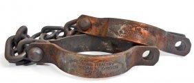 Black Americana Wilber Cast Iron Slave Cuffs