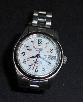 Womans Citizen Quartz Railroad Approved Wrist Watch