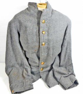 Re Enactor Confederate Civil War Army Frock Coat