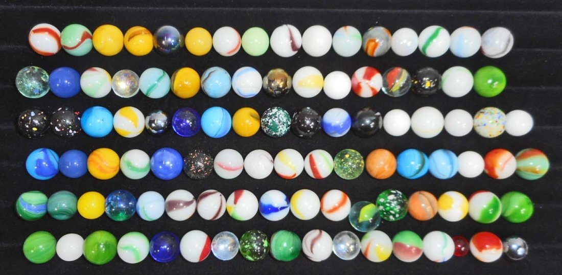LOT OF APPROX. 75 VINTAGE MARBLES