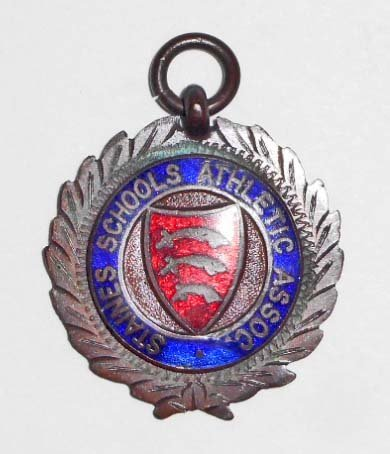 1914 STAINES SCHOOL TRACK MEDAL