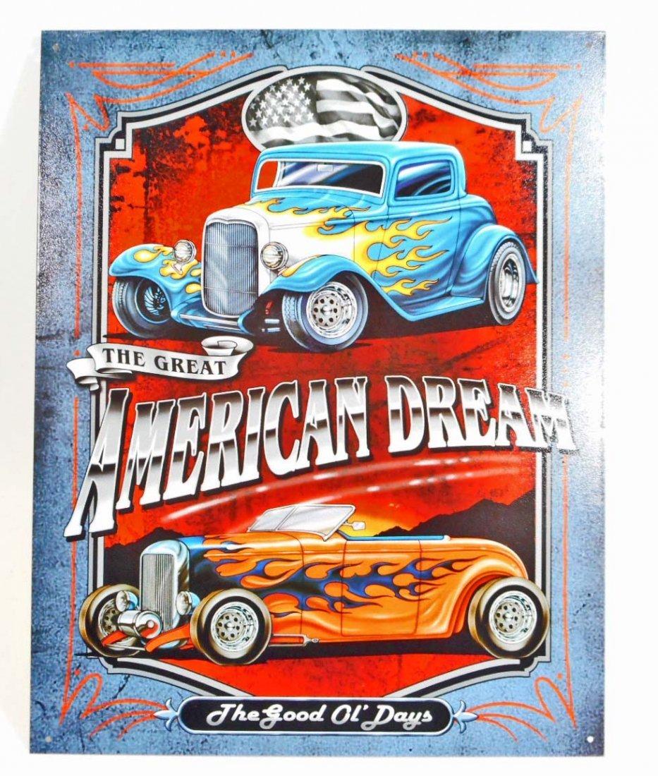 AMERICAN DREAM HOTROD METAL SIGN