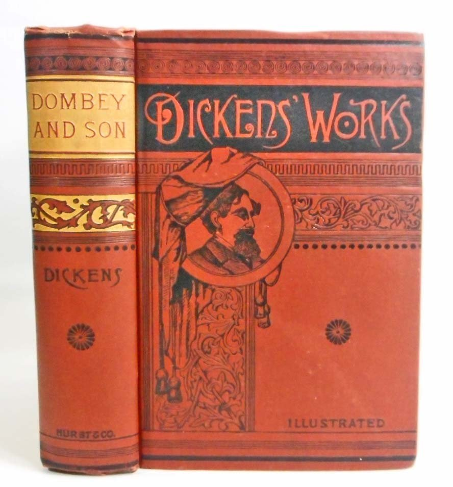 """ANTIQUE CHARLES DICKENS """"DOMBEY AND SON"""" HARDCOVER BOOK"""