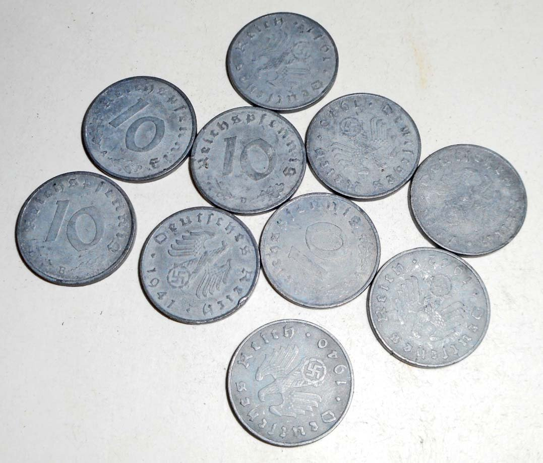 LOT OF GERMAN REICHS COINS