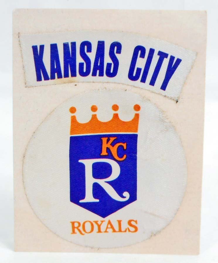 C. 1960S KANSAS CITY ROYALS BASEBALL REAL CLOTH STICKER