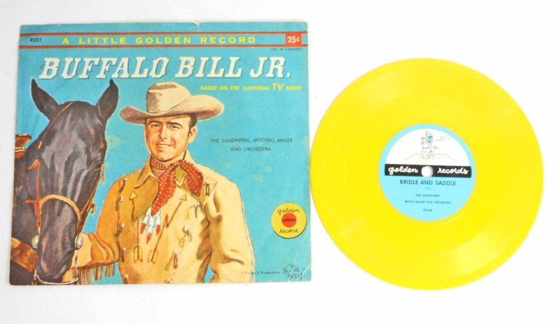 VINTAGE BUFFALO BILL JR. LITTLE GOLDEN RECORD & BOOK -