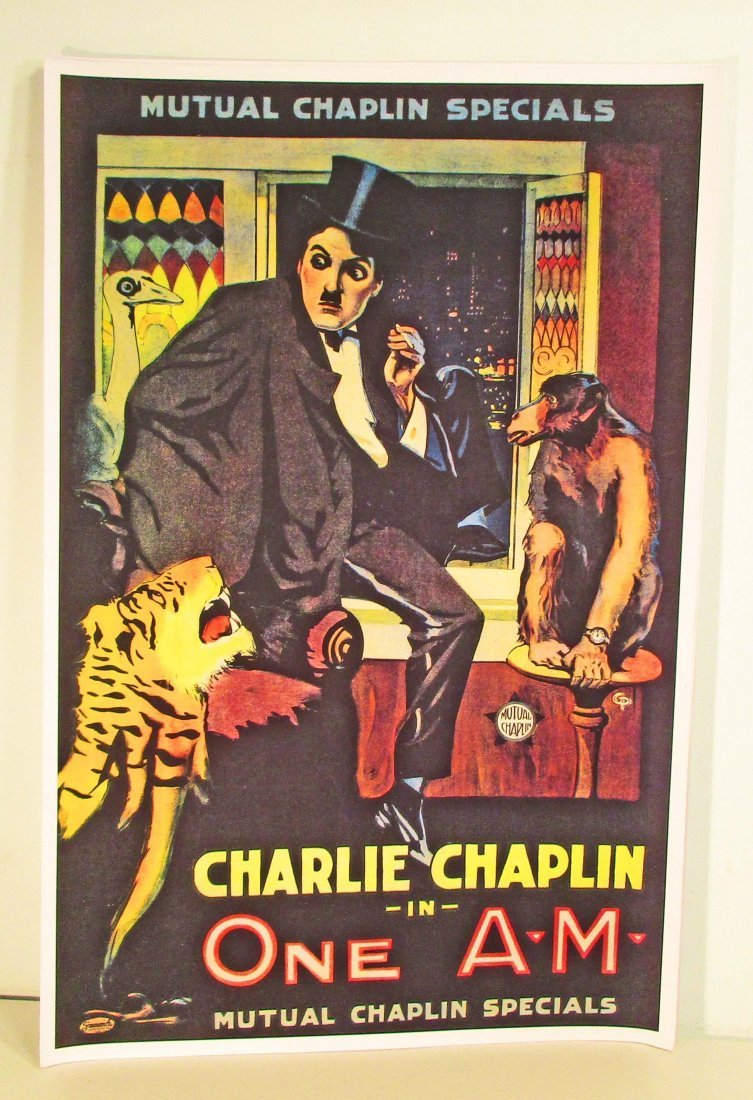 CHARLIE CHAPLIN ONE AM MOVIE POSTER PRINT