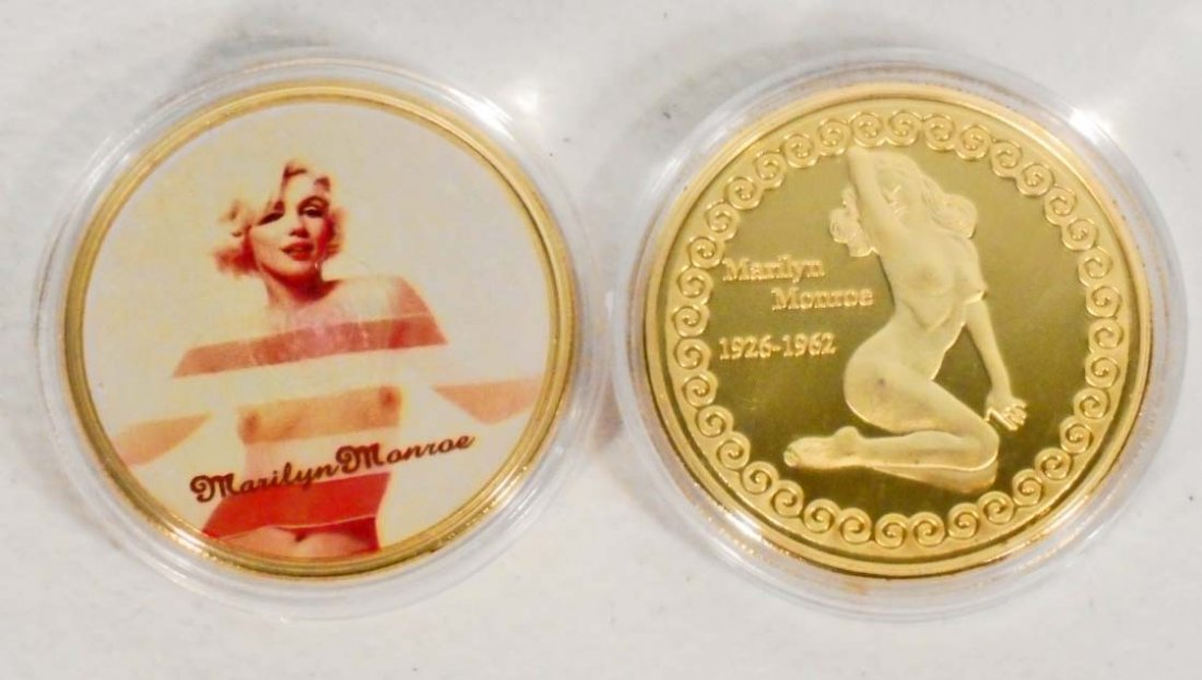 GOLD MARILYN MONROE COMMEMORATIVE COIN