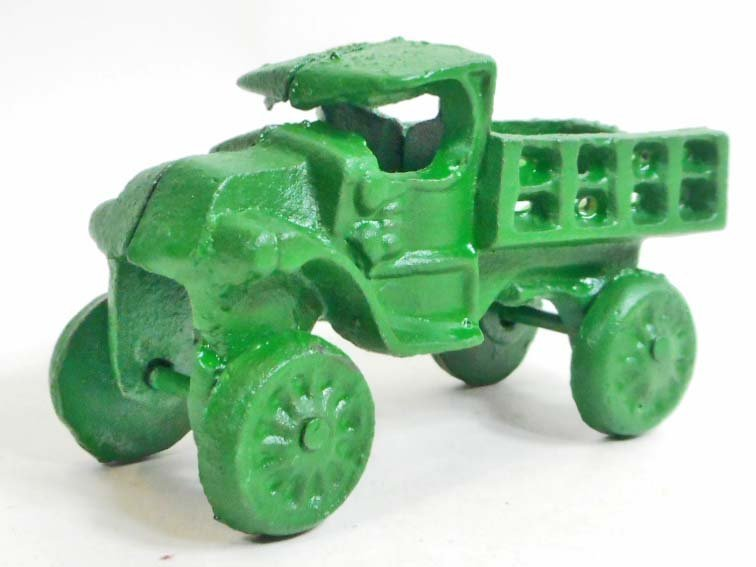 GREEN CAST IRON TRUCK TOY
