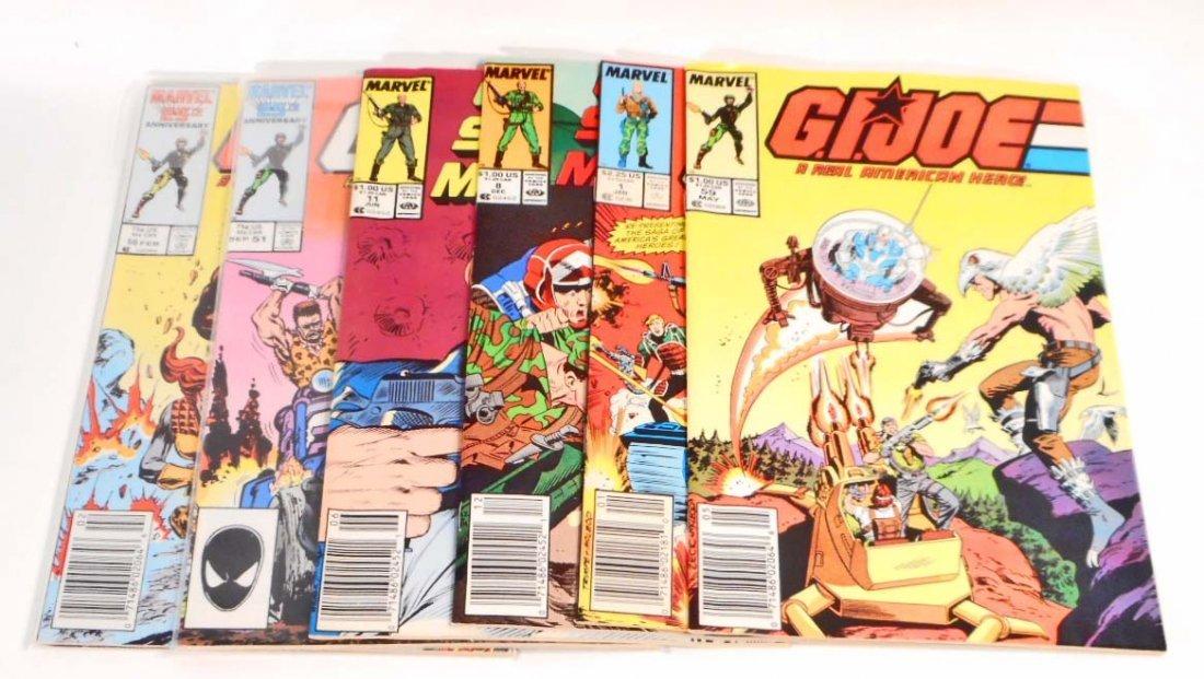 LOT OF 6 VINTAGE 1980S GI JOE COMIC BOOKS