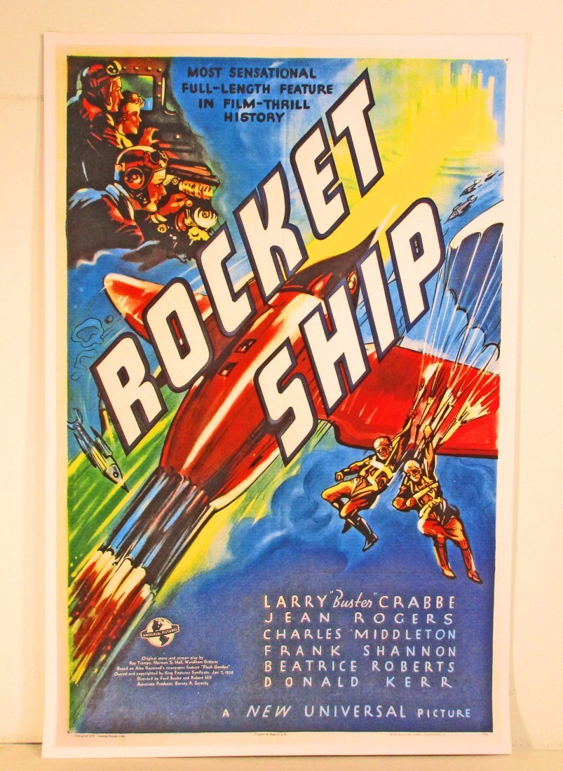 ROCKET SHIP MOVIE POSTER PRINT