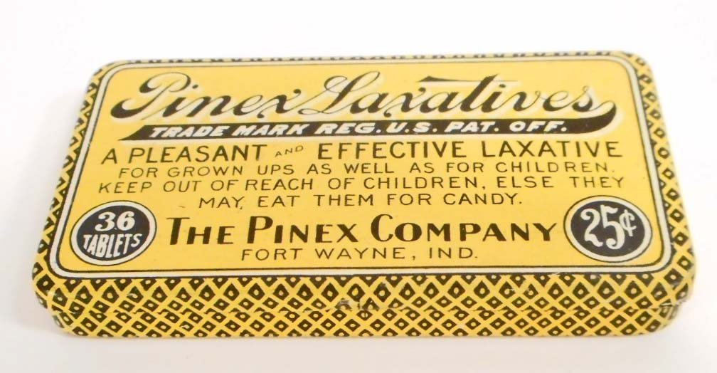 VINTAGE PINEX LAXATIVE ADVERTISING TIN
