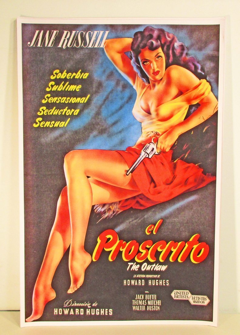 JANE RUSSELL EL PROSCRITO MOVIE POSTER PRINT