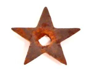 VINTAGE STAR METAL TOBACCO TAG