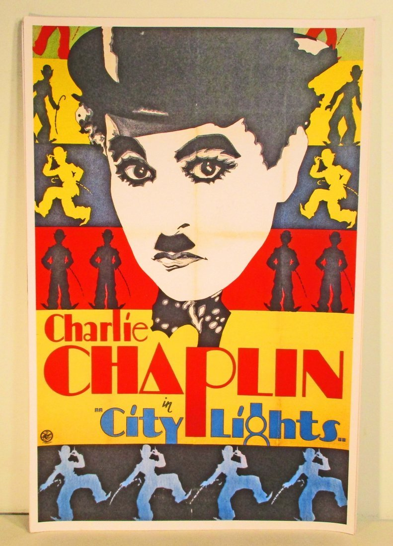 CHARLIE CHAPLIN CITY LIGHTS MOVIE POSTER PRINT