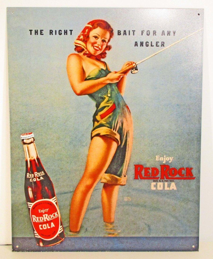 RED ROCK COLA ADVERTISING METAL SIGN