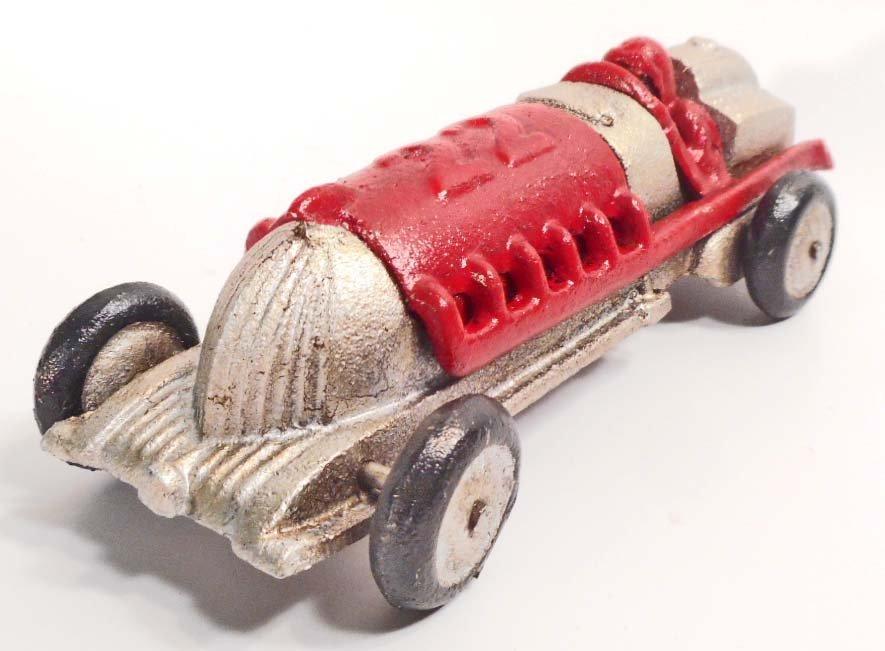 "CAST IRON HUBLEY #22 RACE CAR TOY - 7"" LONG"