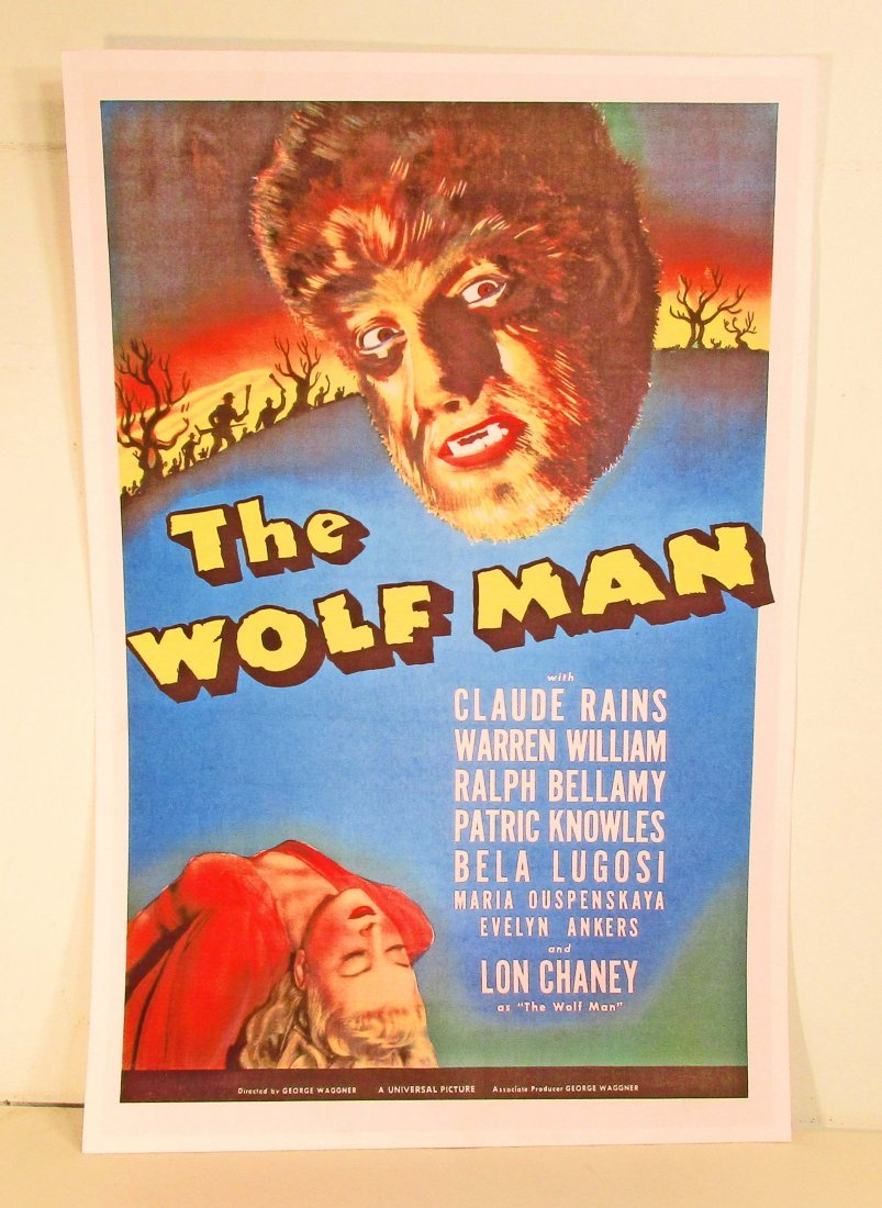 LON CHANEY THE WOLF MAN MOVIE POSTER PRINT