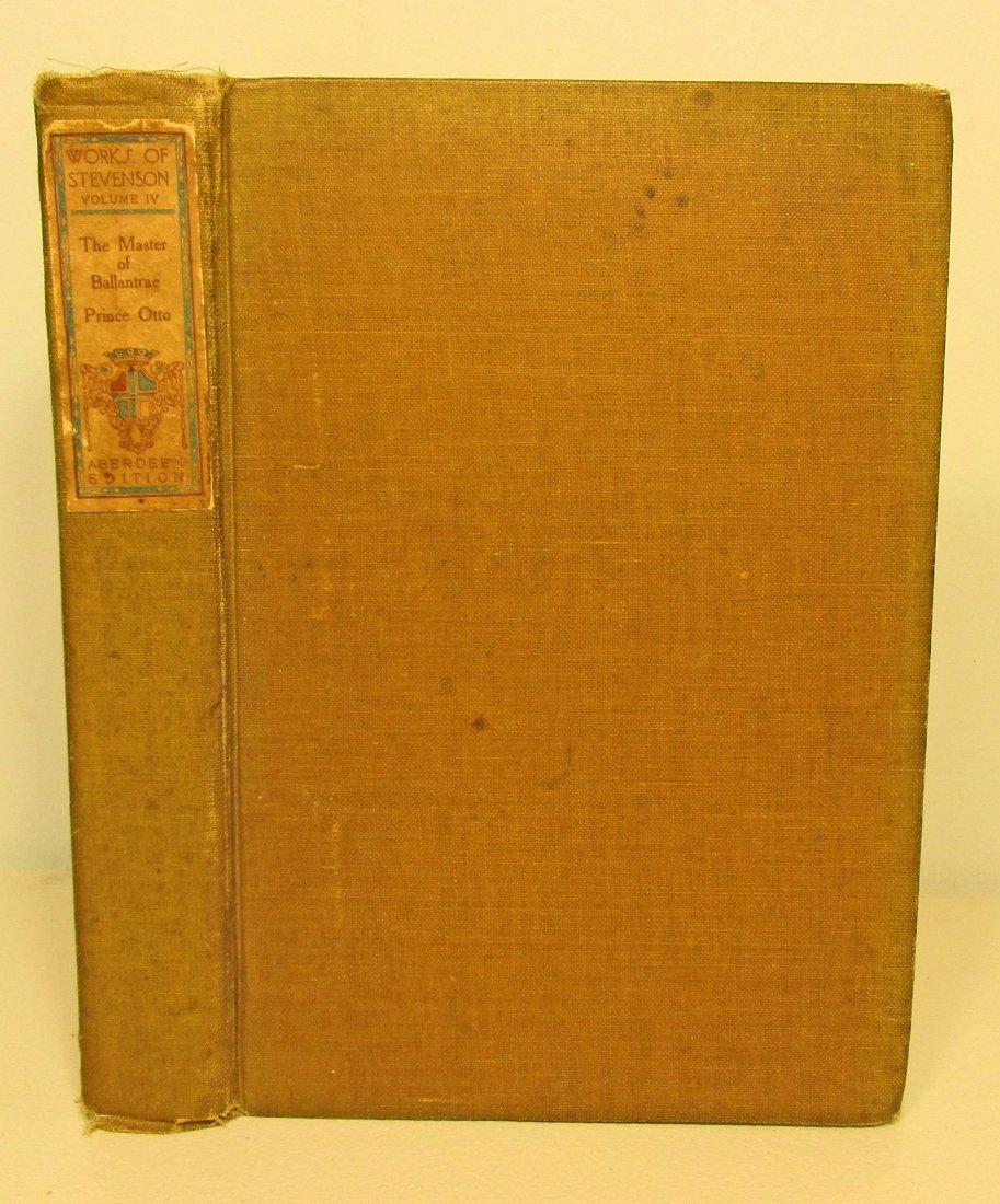 "1908 ""THE MASTER OF BALLANTRAE PRINCE OTTO"" HARDCOVER"
