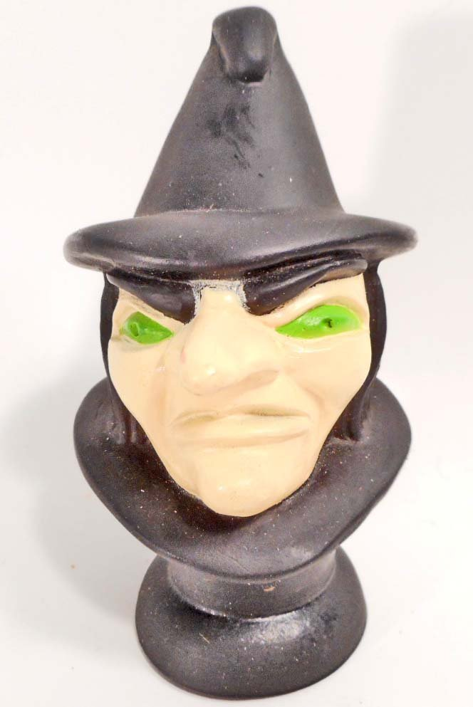 VINTAGE WITCH HAND PUPPET HEAD