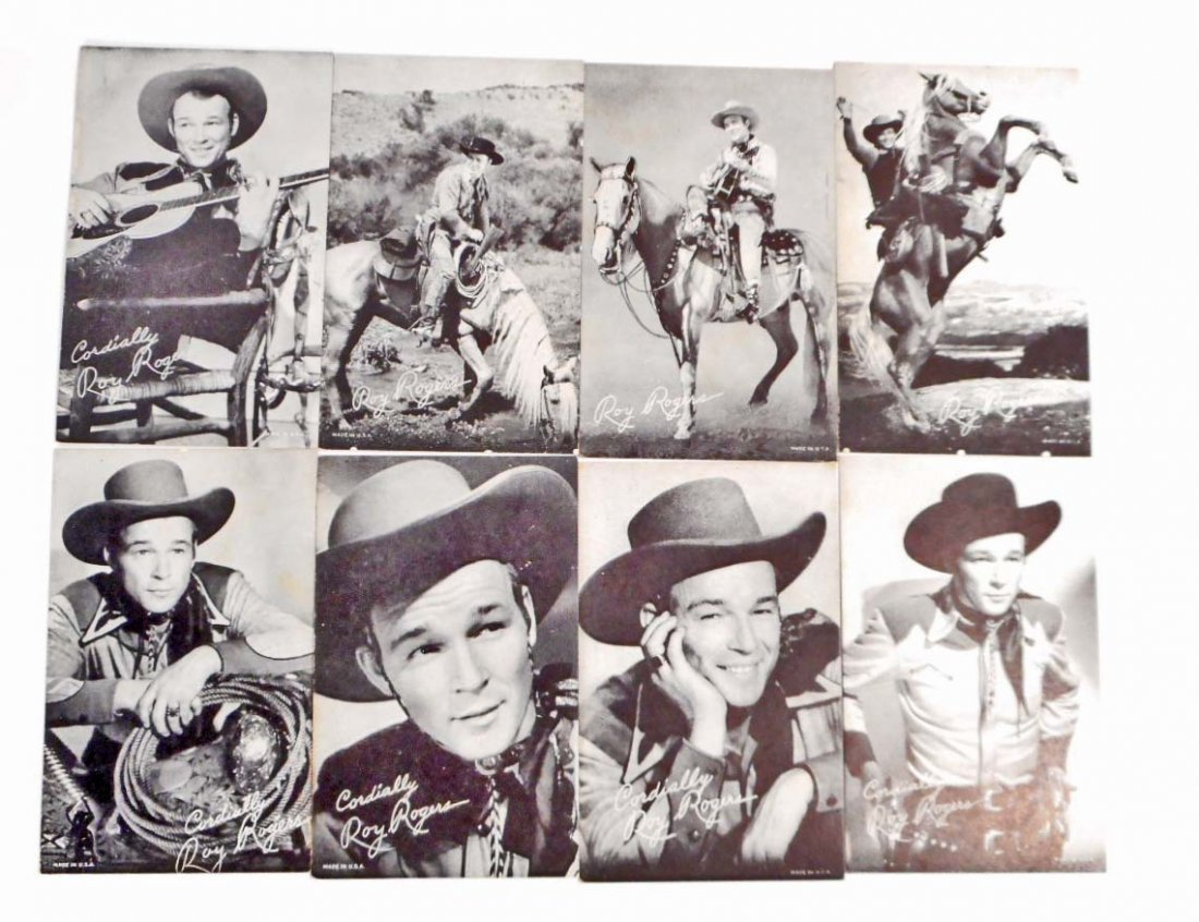 LOT OF 8 VINTAGE ROY ROGERS WESTERN COWBOY MUTOSCOPE