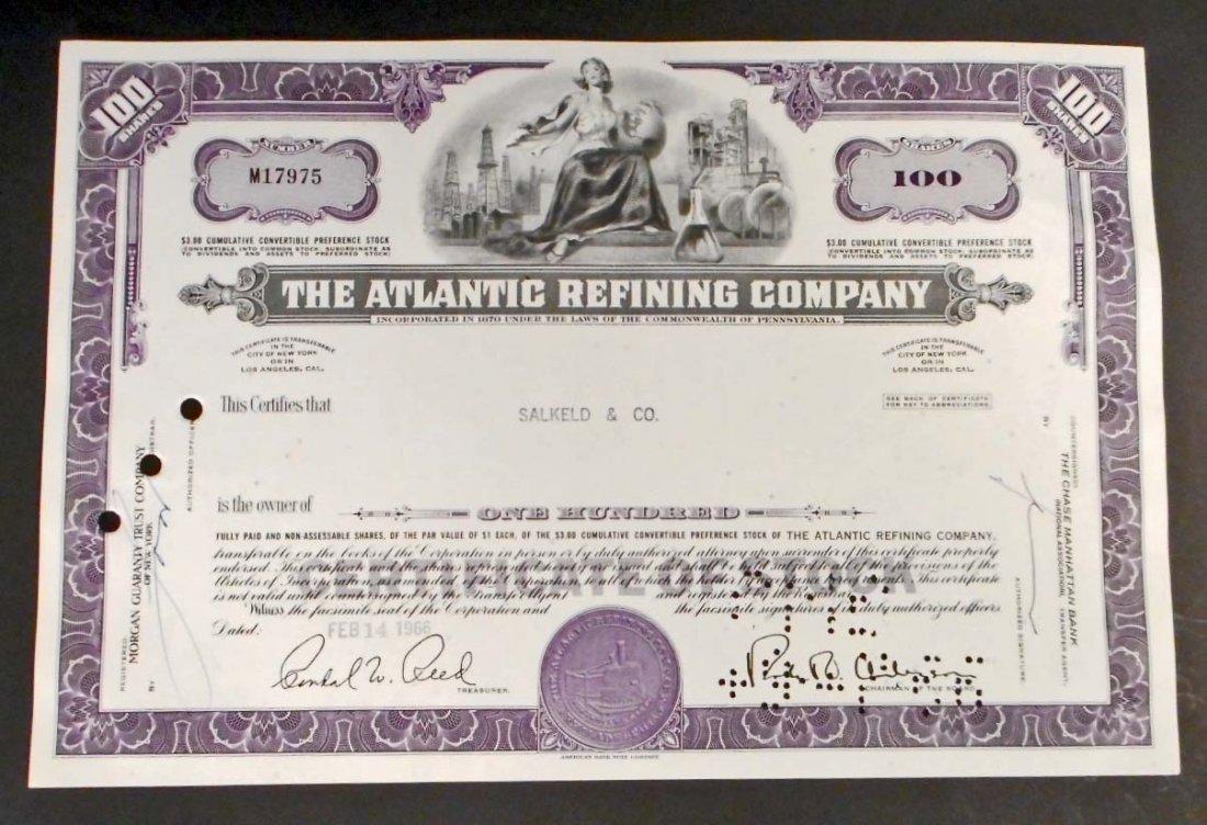 VINTAGE ATLANTIC REFINING STOCK CERTIFICATE - ATLANTIC