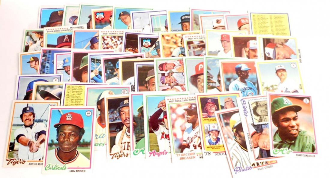 LOT OF 50 VINTAGE 1978 TOPPS BASEBALL CARDS - INCL.