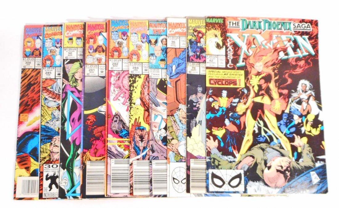 LOT OF 10 VINTAGE X-MEN COMIC BOOKS
