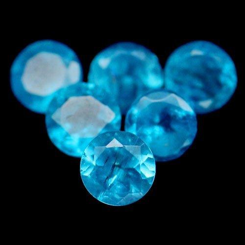 7.62 CT NATURAL! 55PCS BLUE MADAGASCAR APATITE ROUND