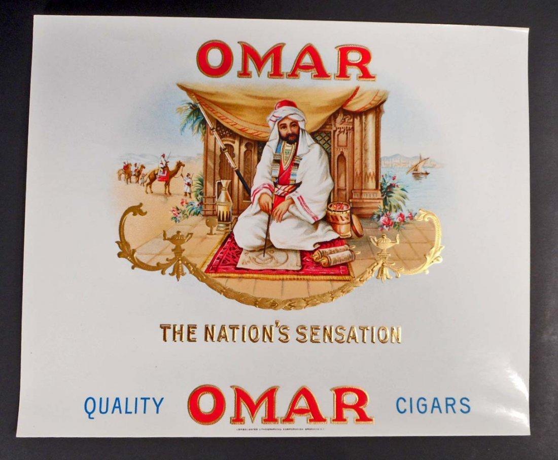 VINTAGE OMAR THE NATIONS SENSATION INNER CIGAR BOX