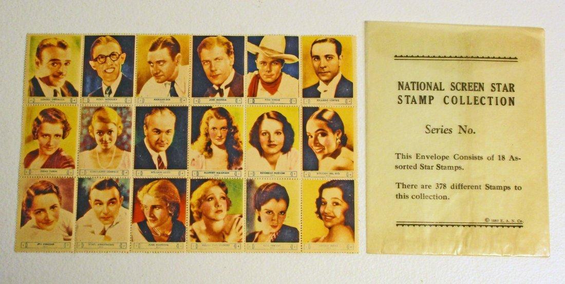 VINTAGE FULL PACK OF 1932 SCREEN STARS STAMPS - SERIES