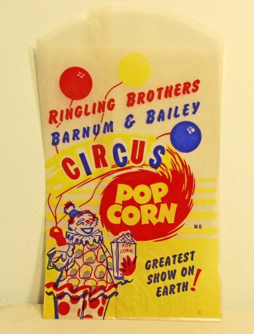VINTAGE RINGLING BROS CIRCUS POPCORN BAG