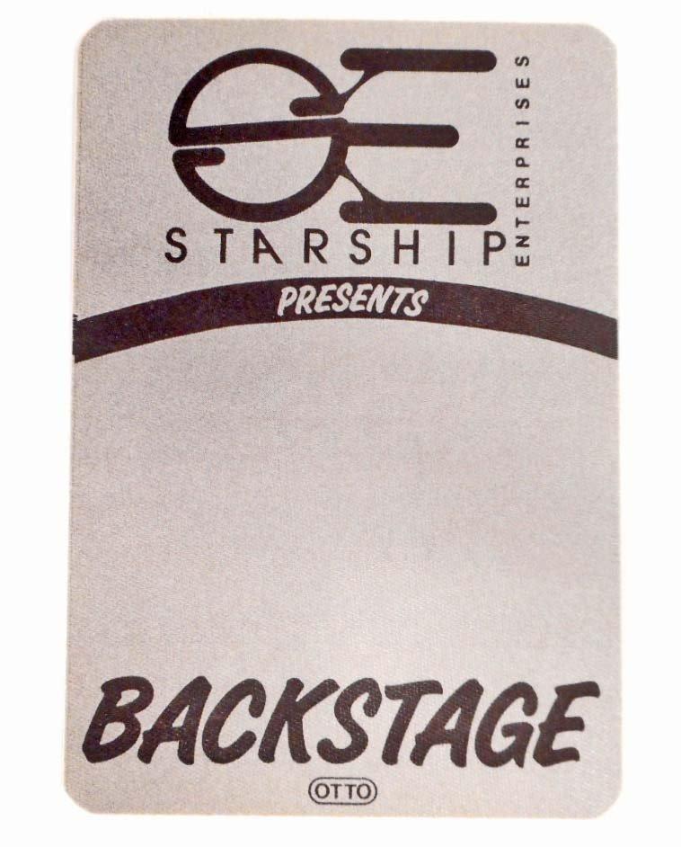 VINTAGE STARSHIP BACKSTAGE PASS