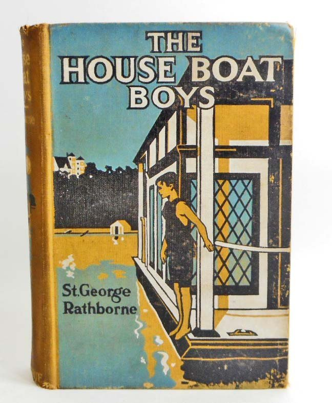 "1912 ""THE HOUSE BOAT BOYS"" HARDCOVER ANTIQUE BOOK"