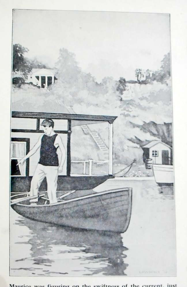"1912 ""THE HOUSE BOAT BOYS"" HARDCOVER ANTIQUE BOOK - 2"