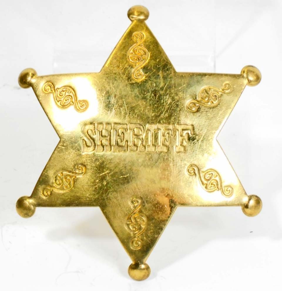 BRASS SHERIFF 6 POINT STAR BADGE
