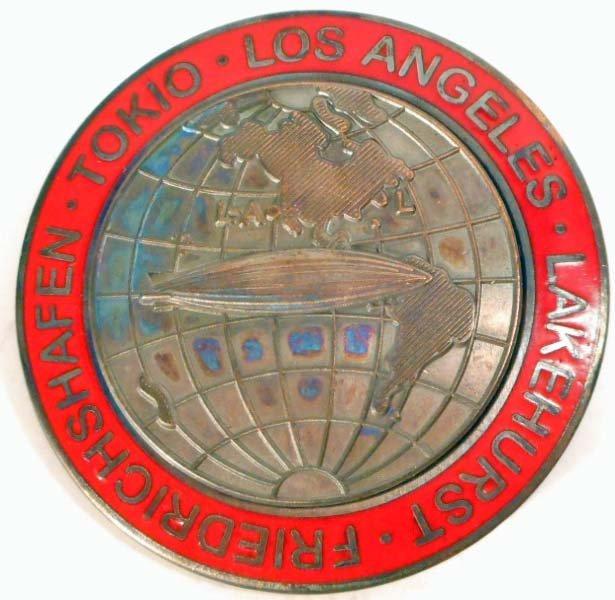 GERMAN NAZI LAKEHURST - TOKIO - LOS ANGELES ZEPPELIN