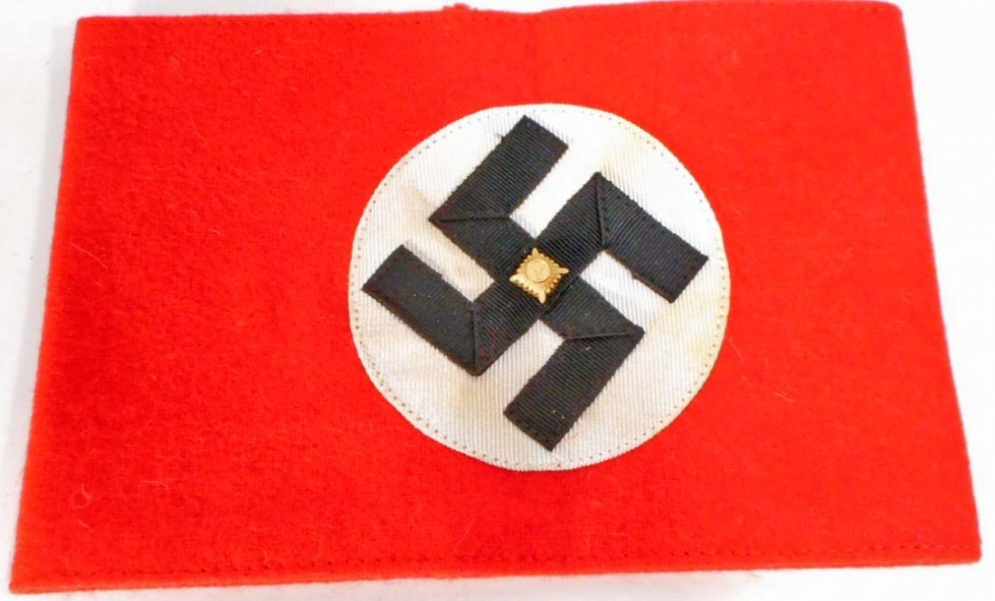 GERMAN NAZI POLITICAL NSDAP SWASTIKA OVERCOAT ARM BAND