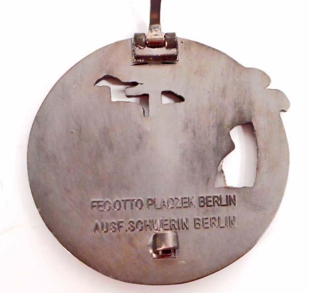 GERMAN NAZI NAVAL BLOCKADE RUNNER BADGE - 2