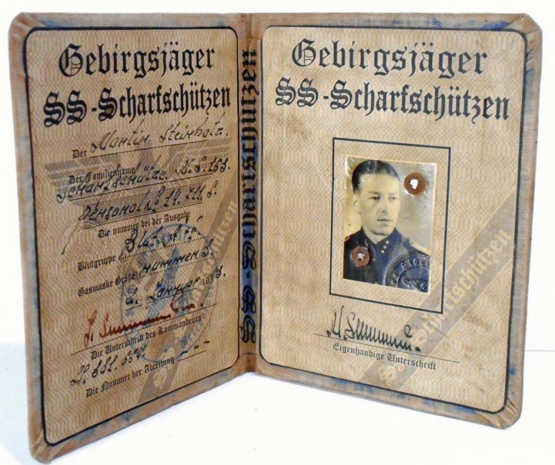 GERMAN NAZI WAFFEN SS SNIPER SOLDIER IDENTIFICATION - 2