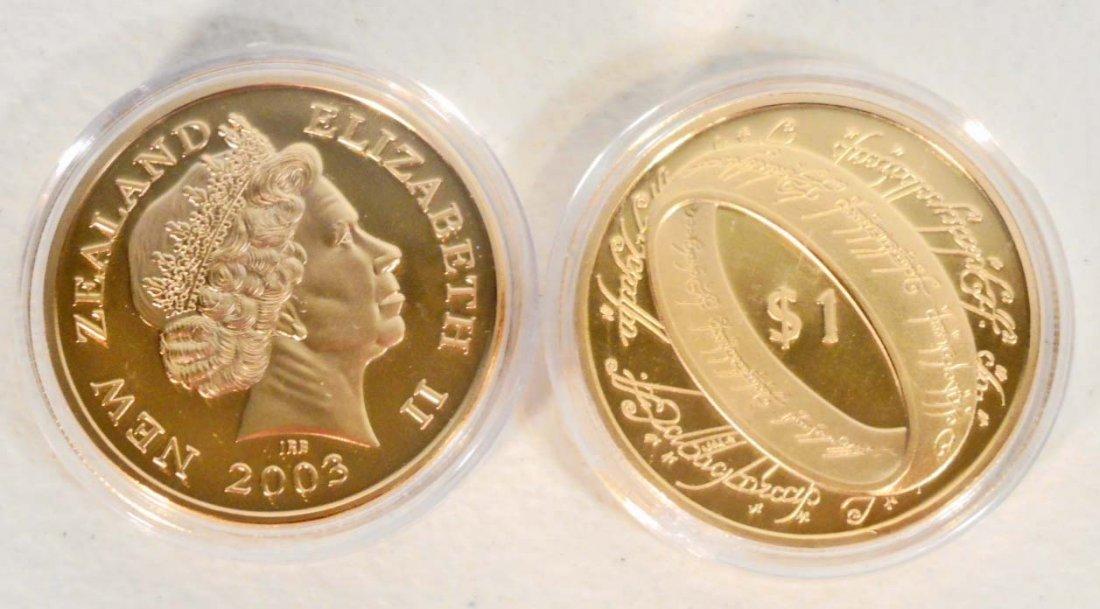 GOLD NEW ZEALAND QUEEN ELIZABETH II COMMEMORATIVE COIN