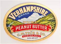 EARLY VERHAMPSHIRE PURE PEANUT BUTTER JAR ADVERTISING