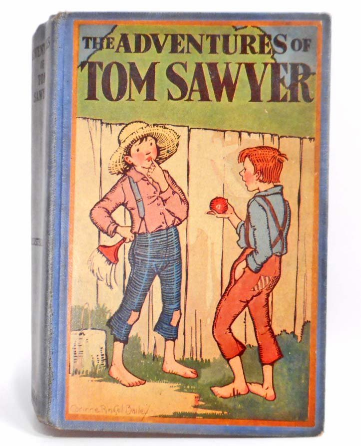 "VINTAGE 1921 1ST ED. ""THE ADVENTURES OF TOM SAWYER"""