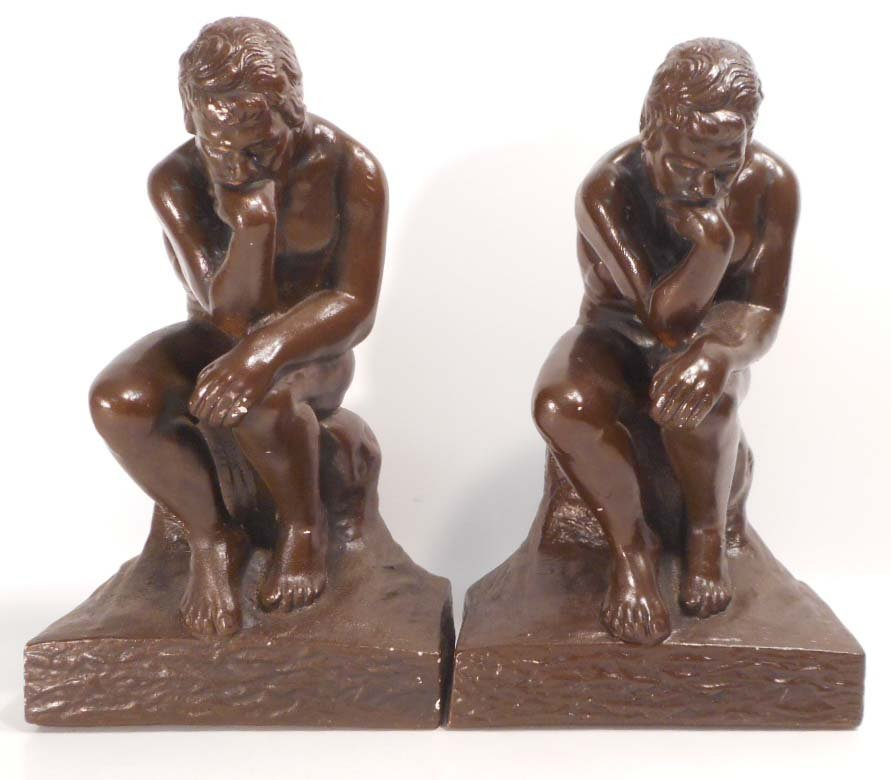 PAIR OF VINTAGE THE THINKER BOOKENDS