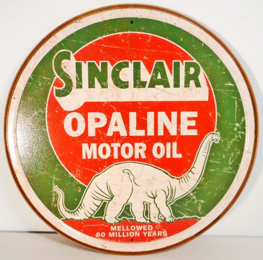 """SINCLAIR MOTOR OIL METAL ADVERTISING SIGN - 12"""""""
