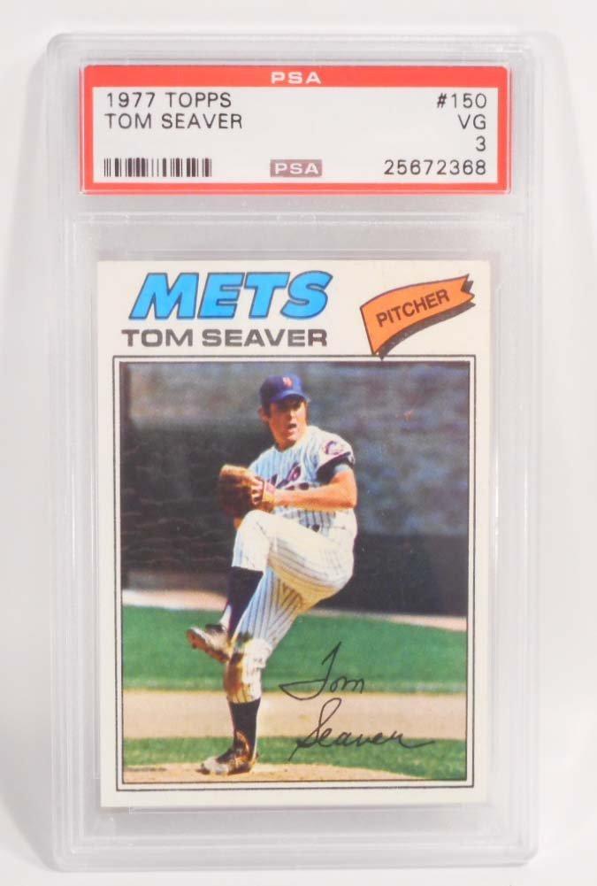 1977 TOPPS TOM SEAVER #150 BASEBALL CARD - PSA VG 3
