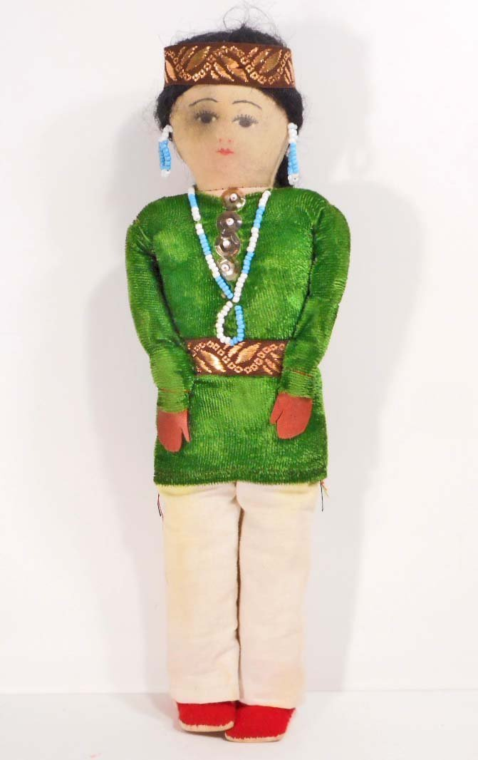 "VINTAGE NATIVE AMERICAN INDIAN FOLK ART DOLL - 12"" TALL"