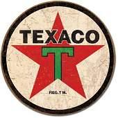 """TEXAC0 METAL SIGN 12"""" ROUND"""